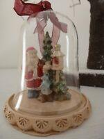 Gisela Graham Vintage Santa in a Glass Dome Christmas Decoration 8.5cm (2 asst)