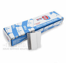 Razor Blades Single Edge 9 Steel Made in U.S.A 5 Boxes of 100 Pieces  Total 500