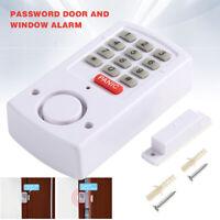 Door Window Alarm Security System Home Wireless Battery Burglar Keypad White