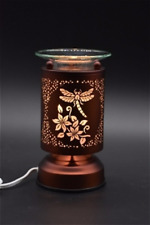 Metal  Electric Touch Fragrance Aromatherapy Lamp Oil Warmer Dragonfly Design