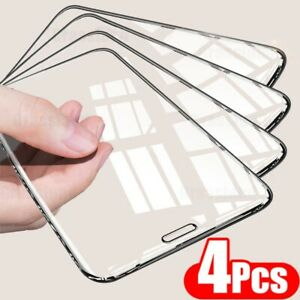 New 4Pcs Full Cover Tempered Glass For iPhone 11 12 Pro Max Screen Protector