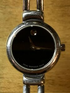 Womens Movado Museum Stainless Steel Swiss Dress $495 Watch 0606056 M0063141013