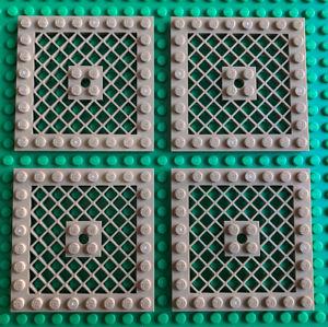 4 x LEGO 8 x 8 Grille Plate - Dark Tan - Part 4151b - New