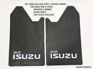 USE FOR ISUZU 4WD 4X4 OFF-ROAD MUD FLAPS SPLASH GUARDS CAR TRUCK BLACK RUBBER