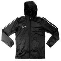 Nike Soccer Park 18 Rain Jacket Unisex Youth M Futbol Black Windbreaker AA2091