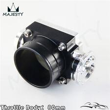 80mm Alloy Aluminum Universal CNC Billet Intake Throttle Body High Flow Black