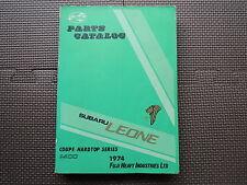 JDM SUBARU LEONE Coupe Hardtop 1400 A22 Original Genuine Parts List Catalog