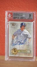 2013 Topps Five Star Autographs Paul O'Neil Card BGS 9 Auto 10.