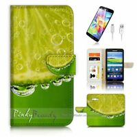 ( For Samsung Grand Prime ) Wallet Case Cover P2663 Lime