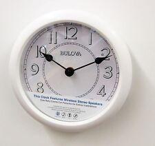 "BULOVA -C4842  STEREO BLUETOOTH LIGHTED DIAL WALL CLOCK  ""VERSATILE"""