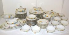 AMC German 77 pc Fine China Service for 10 plus extras ACC5 Floral Tulip Pattern