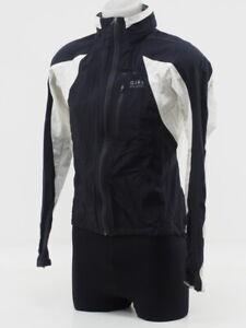 Gore Bike Wear Men's Cycling Rain Jacket Size Medium Black/White Taped Seams