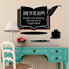 UK Book Chalkboard Wall Stickers for Bedroom Family educational and diary notes