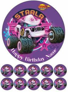 Starla Blaze and the Monster Machines Edible Cake Toppers Wafer or Icing