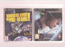 BORDERLANDS THE PRE-SEQUELS + BEYOND TWO SOULS  !!! 2  Jeux Cultes : PS3 NEUFS