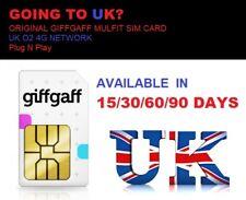 Travel to UK? 30 days unlimited data Prepaid sim Original GiffGaff/O2 4G sim