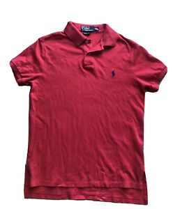 RALPH LAUREN CUSTOM FIT Light Red POLO -SIZE Medium