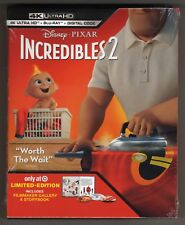 Incredibles: 2 4K Ultra Hd / Bluray / Digital Target Version Brand New Storybook