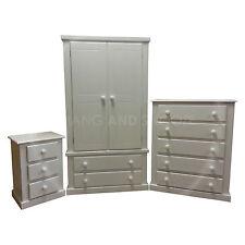 HAND MADE DEWSBURY FURNITURE 3 PIECE BEDROOM SET WHITE/WHITE (ASSEMBLED)