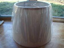 New 10 x 10.5 x 13.5 Lamp Shade Beige Linen Herringbone Pattern