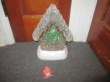 "Hallmark 2010 Home Sweet Home  Snow Globe  Magic Lighted Christmas Tree 15"" NEW"