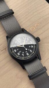 Hamilton Khaki Field Mechanical PVD Coated Black Watch Slightly Used - H69409930