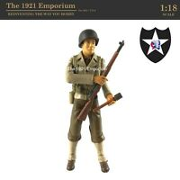 ☆ 1:18 21st Century Toys Ultimate Soldier WWII US Army 2nd Infantry Div. Figure