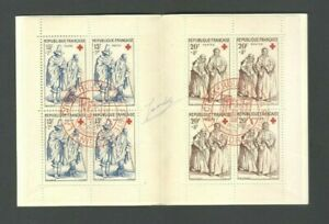 FRANCE 1957 Red Cross Croix Rouge Booklet CTO SIGNED