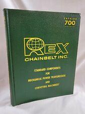 Vintage 1967 REX Chainbelt Mechanical Power Machinery Equipment Catalog