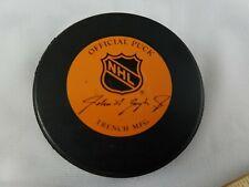 Vintage Official NHL Game Puck John Ziegler Jr. Vancouver Canucks Retro  Skate c24fa1076