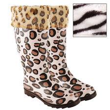 Fleece Animal Print Socks for Women