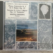 BEETHOVEN: Piano Concerto 1 / Sonata 8 - Gieseking (IT CD Theorema 121.215 /OVP)