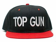 New TOP GUN Embroidered Cotton Twill Adam Devin Workaholics Black Red Cap 80's