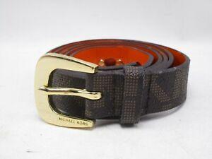 Womens Michael Kors Black and Gold Belt Size XL