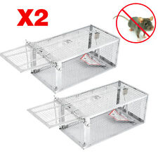 New listing 2 Rodent Animal Mouse Humane Live Trap Hamster Cage Mice Rat Control Catch Bait#