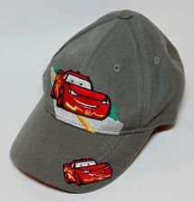 CARS ADJUSTABLE BALL CAP Childs Kids Gray Cartoon Red Race Cars Omega Headwear