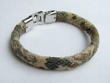 Mens bracelet Cowhide Stainless Steel Clasp  7.5inch long 19cm