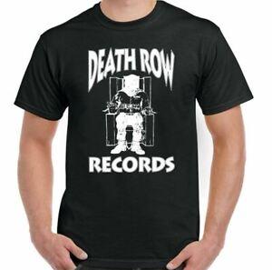 DEATH ROW RECORDS T-SHIRT Mens Tupac 2Pac Hip Hop Dr. Dre Top Shakur Snoop Dogg