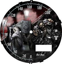 Yamaha xvs950 V Star Gunslinger Grim Speedometer Custom Face Plate  KM/H  & MPH