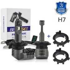 H7 LED Headlight For Hyundai Sonata 09-17 w/ Bulb Adapter Socket Retainer Holder
