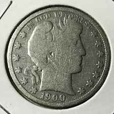 1900 SILVER BARBER HALF DOLLAR NICE COIN