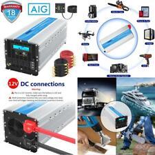 5000Watt Power Inverter Dc 12Volt To Ac 120Volt Lcd Display 4 Ac Sockets Dual