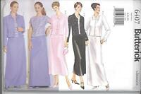 Butterick 6407 Misses'/Miss Petite Jacket, Top and Skirt 6,8,10  Sewing Pattern