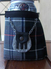 Mackenzie Tartan Plaid Beer Bottle Koozie Mini Kilt With Sporran Christmas Gift