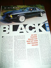 1981 CHEVROLET MALIBU PRO TOURING ***ORIGINAL 2001 ARTICLE***