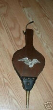 Vintage Fireplace Bellows Wood Leather w Eagle Japan