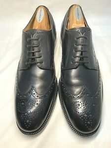 COLE HAAN C22270 Williams Wingtip II Black Brogue Dress Oxfords Men's US 9M $220