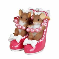 Charming Tails 'Sole Sisters' Mice in Shoes Sentiment Figurine Ornament, 89373