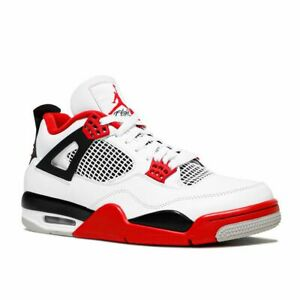 Nike Air Jordan Retro 4 Fire Red 2020 White Tech Grey DC7770-160 Men & GS