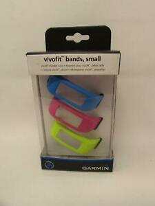 Genuine Garmin Vivofit 3-Pack Wrist Bands Blue Pink Lime Green Size Small